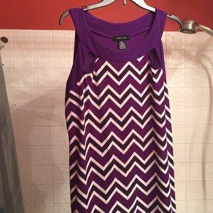 Purple/wht shirt